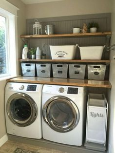 37 Awesome Farmhouse Laundry Room Decoration Ideas - Home Bestiest