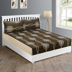 Buy this Stylized Ogee Pattern Zinnia Bed in a Bag Online at WoodenStreet.#bedsheetset #bedfittedsheets #beddingsetsonline #cottonbeddingsets #acbeddingsets #summerbeddingsets Bed Sheet Sets, Bed Sheets, Wooden Street, Cotton Bedding Sets, Bedding Sets Online, Bed In A Bag, Amazing Spaces, Bedding Shop, Zinnias