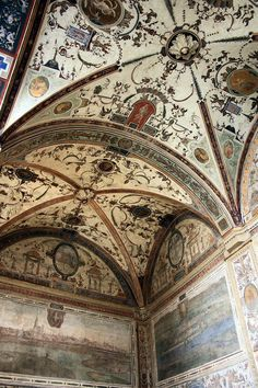 at the Palazzo Vecchio; Florence Italy with Magdalen Nabb in Death of a Dutchman