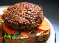 The one and only vegan burger recipe made with wheat bulgur that's tasty, nutritious, full of protein, and simple to handle. Meatless Burgers, Vegan Burgers, Delicious Vegan Recipes, Vegetarian Recipes, Healthy Recipes, Healthy Food, Vegan Food, Healthy Eating, Burger Recipes