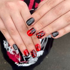 Red Nail Art, Red Nails, Gothic Nails, Bmth, Nail Inspo, Claws, Nailart, Candy, Beauty