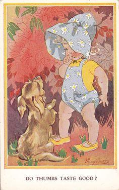 Mary Brooks postcard via Etsy