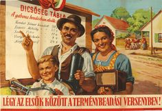 Pictures of towns and landscapes of Hungary, photo of Hungarian Communist Propaganda Poster. Hungarian Women, Communist Propaganda, World War Ii, Hungary, Romania, Vintage Posters, Image Search, The Past, People