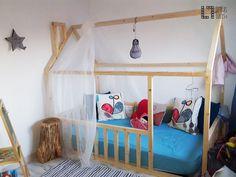 Bed House de Madera con Chimenea | Letras con luces, decoración, bodas y escaparates  #bedhouse #montessori #camacasa #madera #artesanal #handmade #kidsroom #nursery #kids #nordic