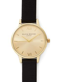 Undisputed Class Watch in Midi. Become known as the arbiter of good taste by making this watch from Olivia Burton your constant companion! #black #modcloth
