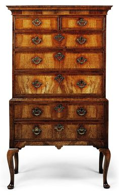 A GEORGE II WALNUT CHEST-ON-STAND CIRCA 1740