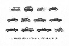 Handmade Vehicle Pack by Jackrabbit Creative on @creativemarket