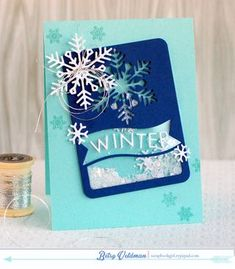 Winter Shaker Card by Betsy Veldman for Papertrey Ink (October 2014)