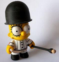 Clockwork Orange Bart Simpson by Alex DeLarge