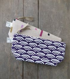 Deep Plum Organic Cotton Canvas Cosmetic Bag by frankieandcocopdx, $24.00