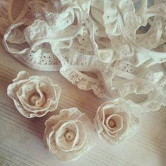 Eyelet Lace Roses created by Bona Rivera-Tran.
