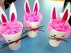 Προσχολική Παρεούλα : ΠΑΣΧΑΛΙΝΑ !!!! Cup Crafts, Easter Crafts, Easter Ideas, Easter Baskets, Icing, Bunny, Cake, Desserts, Blog