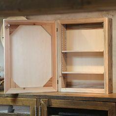 【楽天市場】OLD ASHIBA(足場板古材)ミラーキャビネット Lサイズ 無塗装幅500mm×高さ680mm×奥行150mm【洗面収納棚】【洗面鏡】【アンティーク風】【受注生産】 【小型商品】:WOODPRO(ウッドプロ) Bathroom Medicine Cabinet