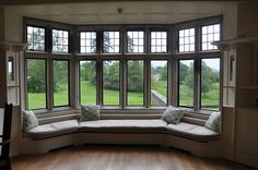 Large bay window seat. A much smaller version perhaps in our house??