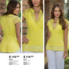Blusas Blouse Styles, Blouse Designs, Look Fashion, Womens Fashion, Latest Tops, Baby Girl Dresses, Fashion Lookbook, Spring Collection, Sewing Blouses