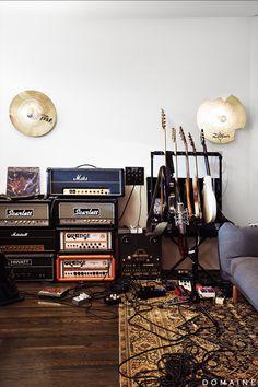 Guitar and speaker storage