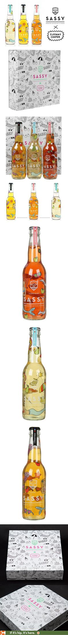 Sassy Ciders hired French illustrator Tiffany Cooper to design a special boxed set of three limited edition bottles for Colette.