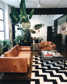 5 Ways To Style A Camel Leather Sofa Caitlin Mid Century Living