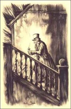 A Thousand Winds —  Illustration of Ebenezer Scrooge by Anton Pieck...