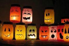 Les pots lumineux d'Halloween!!