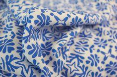 Blue Four Point Pattern Viscose Adam Ross Fabrics