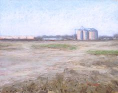 Soft Morning Light in Tulare  Original Pastel Painting by pswyatt