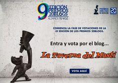 Este año 2015 mi blog se presenta a los premios más importantes del mundo blogger en España, los Premios 20Blogs, en la categoría de Cine & Televisión. Si os gusta el blog La Taverna del Mastí, ayúdanos con tu voto a llegar a la gran final!!!! http://tavernamasti.blogspot.com.es/2015/02/el-blog-la-taverna-del-masti-se.html
