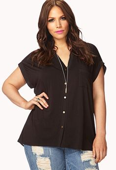 Forever21 Plus Size Jersey Knit Top
