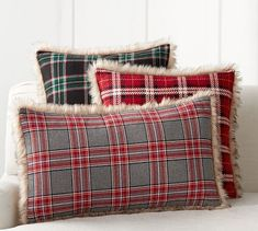 Nottingham Plaid with Faux Fur Back Pillow Covers : Pottery Barn Nottingham Plaid w/ Faux Fur Back Pillow Cover Diy Pillows, Handmade Pillows, Throw Pillows, Accent Pillows, Fur Pillow, Cushions, Fur Throw, Throw Blankets, Lumbar Pillow