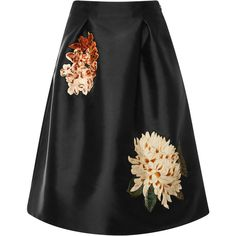 Sachin & Babi Devi Floral Skirt featuring polyvore women's fashion clothing skirts black floral knee length skirt pleated skirt floral skirt floral printed skirt floral pleated skirt