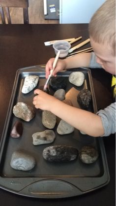 Marissa's Mommy Moments: Painting Rocks with Water