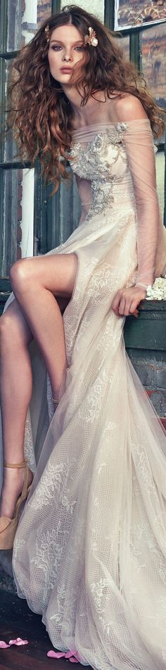 high open front slit wedding dress - Deer Pearl Flowers / http://www.deerpearlflowers.com/wedding-dress-inspiration/high-open-front-slit-wedding-dress/
