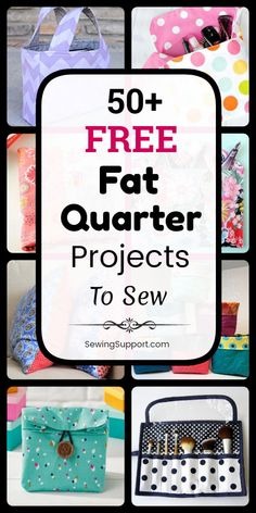 Free Fat Quarter Projects Sewing Projects using Fat Quarters. free fat quarter projects, tutorials, and diy sewing projec Fat Quarters, Sewing Hacks, Sewing Tutorials, Sewing Tips, Serger Sewing Projects, Sewing For Kids, Free Sewing, Sewing Patterns Free Home, Serger Patterns