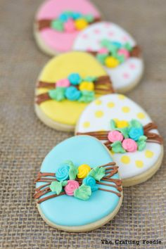 Bunny Easter Sugar Cookies with Royal IcingThe Crafting Foodie Easter Bunny Cake, Easter Cupcakes, Easter Cookies, Holiday Cookies, Easter Treats, Valentine Cookies, Birthday Cookies, No Egg Cookies, Sugar Cookies