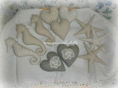 bomboniere stoffa marine - stelle, cavallucci e cuori