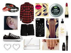 """""""Going to the Movies with Madds"""" by xxx-izzy-xxx ❤ liked on Polyvore featuring Pieces, Converse, MICHAEL Michael Kors, Marc by Marc Jacobs, Dolce&Gabbana and Napoleon Perdis"""