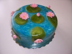 Water lily cake   Epic the movie birthday party