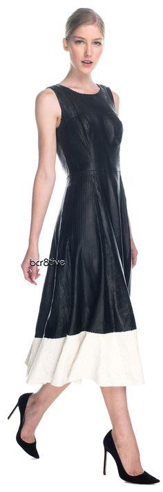 Patrícia Viera Winter 2013 - Sleeveless laser cut leather dress http://modaoperandi.com/patricia-viera/winter-2013/rtw-899/items/laser-cut-leather-dress-128322