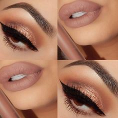 Image result for nude eyeshadow and brown