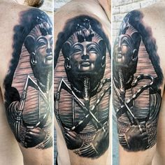 Man With Egyptian Ankh Tattoos