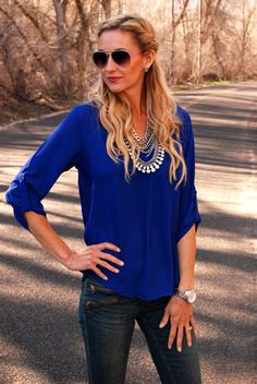 We love the feminine, flattering fit of this blouse - the perfect foil to skinny jeans and your favorite flats or wedges.