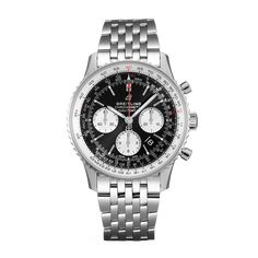 Worldwide Watches Magazine Breitling Navitimer, Breitling Watches, Mechanical Power, Or Rouge, Slide Rule, Metal Bracelets, Watches Online, Stainless Steel Bracelet, Red Gold