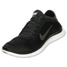 30025e25fe30 Nike Free 3.0 V5 Mens Original Running Black Metallic Silver Anthracite  Running Shoes Nike