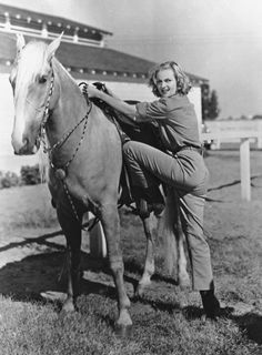"On horseback riding: ""I don't know why the hell everybody thinks this is so great. To me it's like a dry fuck."" - Carole Lombard (via corbis)"
