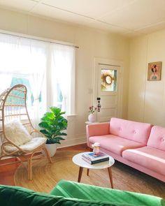 Pastel Living Room, Pastel Room, Living Room Sofa, Living Room Decor, Bedroom Decor, Colorful Apartment, Apartment Interior, Apartment Goals, Aesthetic Room Decor