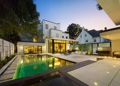 Modern house restoration  and extension of 1931 heritage Art Deco-influenced house located in mid-town Toronto by DMArchitects
