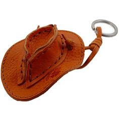 Cowboy Hat Leather Key Chain: unique gift