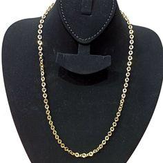 Plain Bright Polish Real 14K Yellow Italian Gold Valentino Chain Necklace 1.3mm
