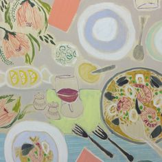 24x24 Tablescape #23 | Lulie Wallace