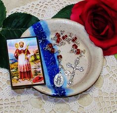 Unbreakable Catholic Chaplet of St. Raymond Nonnatus - Patron Saint of Expectant Mothers, Infants and OBGYN's by foodforthesoul on Etsy